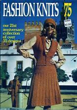 Vintage Fashion Knits Magazine 1975  Wedding Dress & Juliete Cap, Coat, Sweaters
