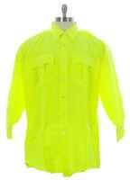 FLYING CROSS Men's Neon Green Uniform Shirt 35W7899G $50 NEW