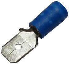 10x Cosse électrique mâle plate 6.3mm 0.8mm 2mm2 isolée bleu