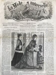 Rare 1870's sewing patterns  (tracings) MODE UNIVERSELLE  Nov 16,1875