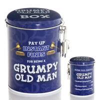 Grumpy Old Man Novelty Fine Tin Fun Money Storage Piggy bank Savings Jar Gift
