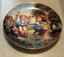 "Hummel Plate Collection ""Apple Tree Boy And Girl"" From The Danbury Mint"