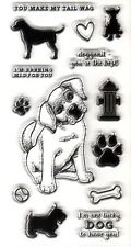 DOG WITH BONE CLEAR STAMP SHEET for CARD MAKING & SCRAP BOOKING, NEW