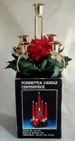 Christmas Around The World Vintage Poinsettia Candle Centerpiece Discontinued