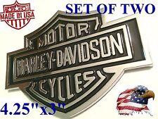 *TWO* Harley-Davidson Adhesive Backed Emblems Medallion Fuel Gas Tank F150 F250