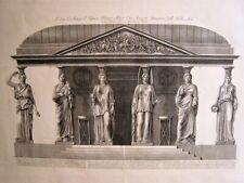 Piranesi Caryatids at the Strozzi Villa.Original etching.Paris 1800-1806