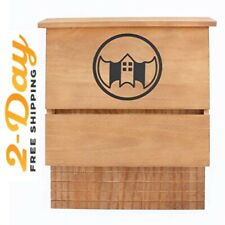 Wood Bat House - Single Chamber Cedar Box (15.28 Inch x 12.68 Inch Width)