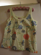 Yellow & Multicoloured Floral Monsoon Stretch Cotton Vest Top in Size 14