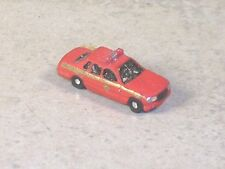 Z Scale 2001 Red Ford Fire Chief Car