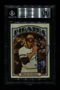 1972 TOPPS WILLIE STARGELL #447 PIRATES HOF SIGNED AUTO BECKETT BAS