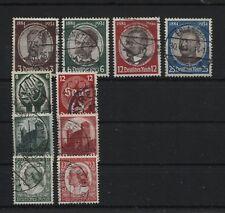 Deutsches Reich 540-543, 544-545, 546-547 und 554-555 gestempelt (B05969)