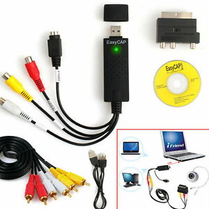 USB 2.0 Audio Video VHS to DVD VCR PC HDD Converter Scart Adapter Capture Card