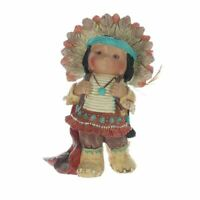 Vintage 1995 Enesco Friends of a Feather Figurine Indian Chief