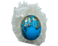 121.1crt Natural Persian Turquoise Cab. best for making pendant Free Shipping
