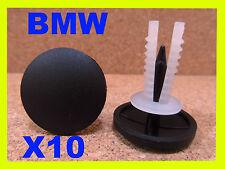 10 BMW TAPPETI da COFANO BAULE BOOT isolamento Trim Copertura elementi di fissaggio Clip Pin
