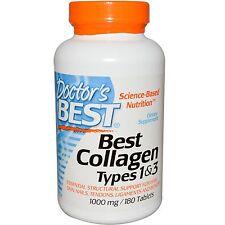 Doctor's Best, Mejores Tipos Colágeno 1 y 3, 1000 MG, 180 Tabletas