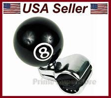 NEW BLACK POOL 8-BALL STEERING WHEEL SPINNER HANDLE CAR TRUCK SUICIDE POWER KNOB