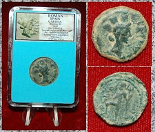 Ancient Coin ROMAN SPAIN CARTEIA HAead Of City Goddess Neptune On Reverse
