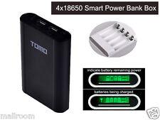 4x18650 Externer USB Ladegerät Smartphone Power Bank Zusatzakku Batterie Akku