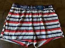 NWT Polo Ralph Lauren Men's Red/Gray/Navy Multi Striped Knit Boxer Brief Size XL
