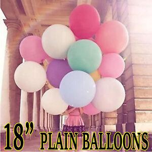 "100 LARGE PLAIN 18"" BALLOONS BALLONS helium BALLOONS Quality Bday Wedding BALOON"