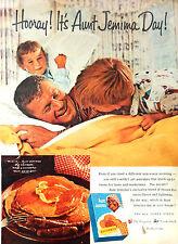 Vintage 1960 Aunt Jemima Day pancake mix dad kids print advertisement ad art