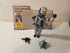 G.I. Joe Cobra Commander Battle Armor - 1987 - COMPLETE  with file card