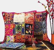 "2 Pcs Decorative Indian Pillow Kutch Home Decor Patchwork Sofa Cushion Cover 16"""