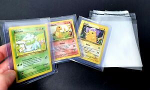 "100x Pokemon Toploader Sleeves ""Schutzhüllen"" bags Folien Base first Edit YuGiOh"