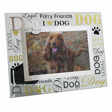Wow Factor I Love My Dog Glass Photo Frame Pet Puppy Picture Frames Animal Gift