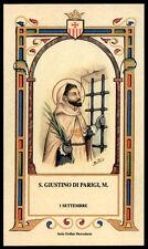 santino-holy card S.GIUSTINO DI PARIGI M. mercedario