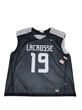 New listing Nike Lacrosse Reversible Performance Training Jersey Men's Large #19 Black White