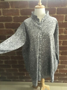 *ELK* The Label Grey Patterned Shirt / Tunic SZ XL Excellent Con. AS NEW