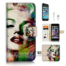 ( For iPhone 7 Plus ) Wallet Case Cover P3534 Marilyn Monroe