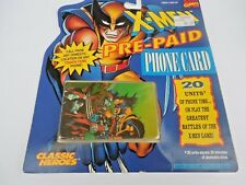 """X-men Pre-Paid Phone Card """"Wolverine Vs Omega Red"""" 1994"""