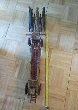 "HUGE 30"" CAST IRON 3 HORSE DRAWN FIRE ENGINE TRUCK W/LADDER"