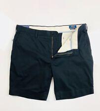 Polo Ralph Lauren Men's Chino Shorts Black Stretch Classic Fit Lightweight Twill