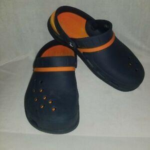 Crocs Modi Sport Clog with Dual Comfort Navy Blue / Orange Unisex Size M-8 /W-10
