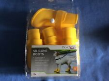 silicone boots for small dog , new , yellow