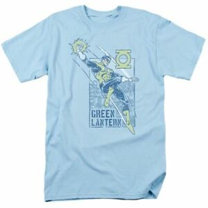 Green Lantern City Watch T Shirt Mens Licensed DC Comics Tee Light Blue