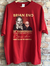 RARE BRIAN ENO 50th Anniversary 1970-2020 Thx 4 The Memories T Shirt Band T XXL