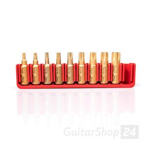 9-tlg. WERA 25mm Bit Set TORX TX T8 T9 T10 T15 T20 T25 T27 T30 T40 HF + Halter