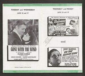 1942 GONE WITH THE WIND ORIGINAL THEATRE PROGRAM