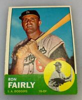 1963 Topps # 105 Ron Fairly Baseball Card Los Angeles Dodgers LA