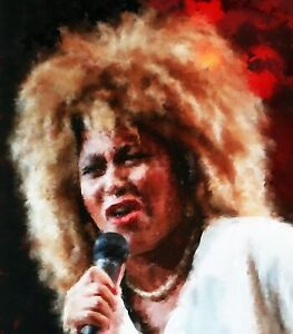 Tina Turner original paintings in acrylic on canvas by Brian Tones
