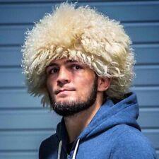 Khabib Nurmagomedov papakha Habib papaha 100% Sheepskin Caucasus fur hat MMA UFC