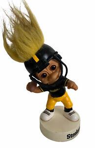 "Vintage Russ 1992 Pittsburgh Steelers Troll Bobblehead 7 1/2"" great gift idea"