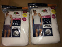 Fruit Of The Loom Mens 6 Pack White A-Shirt Tank Top 100% Cotton SMALL-3XL!!