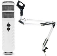 Rode Podcaster MKII USB Mikrofon + keepdrum Gelenkarm-Stativ Weiss