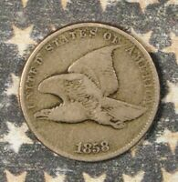 1858 FLYING EAGLE CENT SMALL LETTERS COLLECTOR COIN FREE SHIPPING